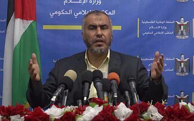 Ghazi Hamad, Hamas deputy foreign minister: 'Often we transform into nihilists: We damn everything, we reject everything, we doubt everything' (Photo: Youtube screenshot)