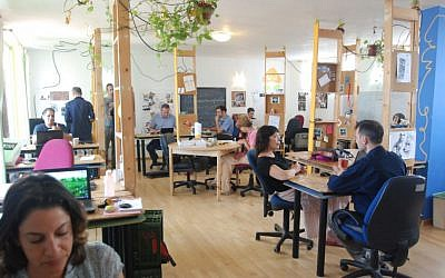 The Hub-TLV accelerator space in Tel Aviv (Photo credit: Courtesy)