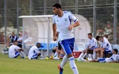 Israeli soccer player Obeida Khatab (screen capture:YouTube/Omar Khtab)