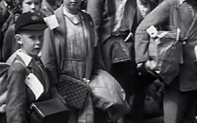 A still from the 'Into The Arms Of Strangers: Story of the Kindertransport' trailer (photo credit: YouTube screenshot)