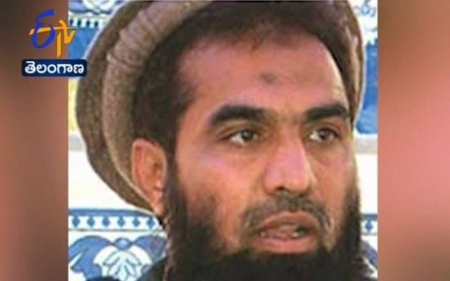 Zaki-ur-Rehman Lakhvi, accused of masterminding the 2008 Mumbai terror attacks that killed 166 people. (screen capture: YouTube/ETV News)