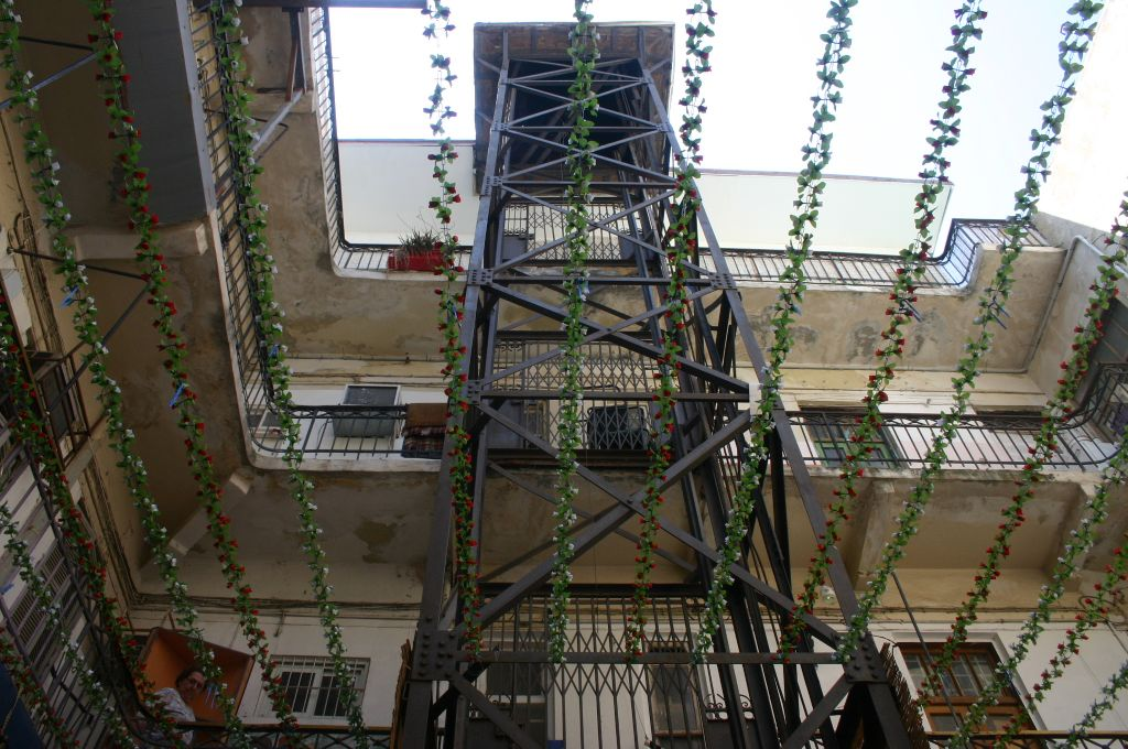Tel Aviv's first elevator in the Pensak Passage (photo credit: Shmuel Bar-Am)
