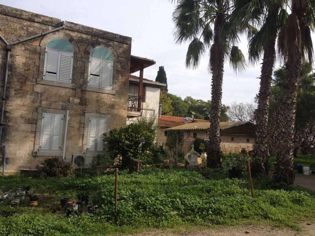 omeof the original Templer-era buildings used by Yossi Jaeger on his farm in Bethlehem of the Galilee (photo credit: Jessica Steinberg/Times of Israel)