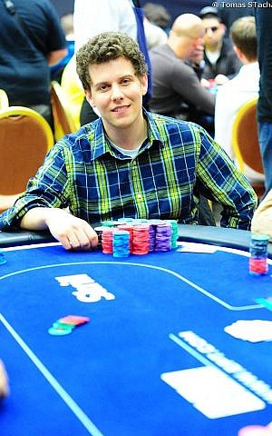 Ari Engel on the European Poker Tour in Prague in 2013. (Tomas Stacha/ via JTA)