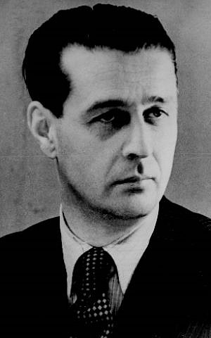 Giorgio Perlasca during his 'diplomat' period in Hungary, mid-1940s. (courtesy Yad Vashem)