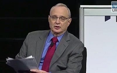 Reform movement leader Rabbi David Saperstein. (screen capture: YouTube/Union for Reform Judaism)