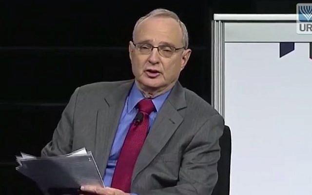 Reform movement leader Rabbi David Saperstein. (screen capture: YouTube/Union for Reform Judaism)