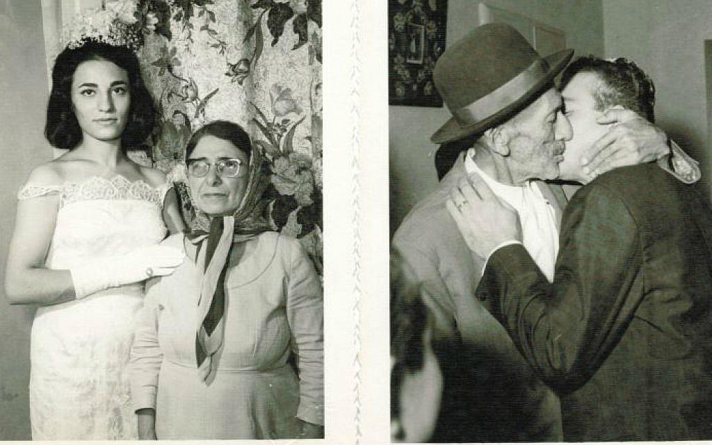 Grandma Maryam with David Rashti's mother and (right) Grandpa Elyas  with Rashti's father (courtesy/JTA)