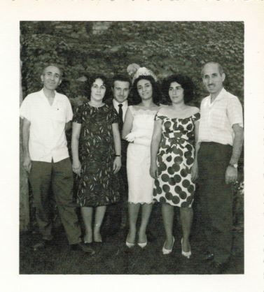 Pictured from left to right: Soleymon, Shamsi, Rashti's father, Rashti's mother, Mahin, Uncle Habib (courtesy/JTA)