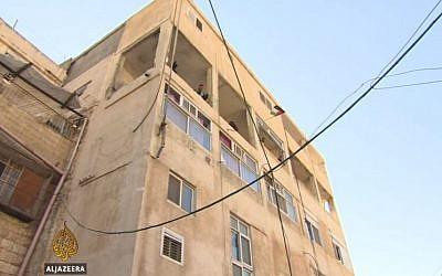 The fourth floor apartment of terrorist Abdelrahman Al-Shaludi that was demolished by Israel authorities. (photo credit:YouTube/Al Jazeera English)