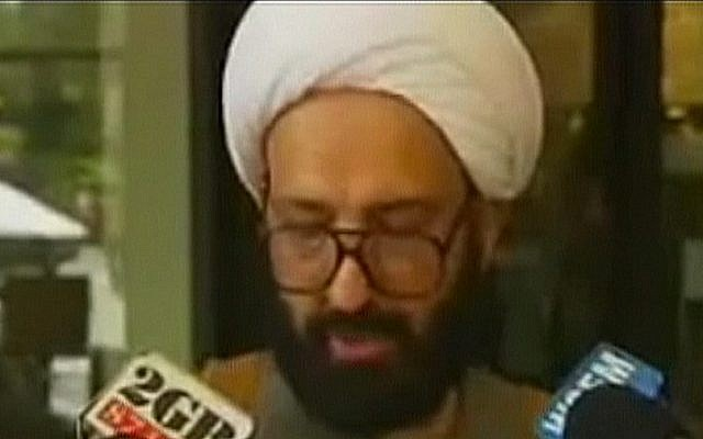Haron Monis, the suspect in a mass-kidnapping of Australian people in a Sydney cafe (screen capture: BBC)