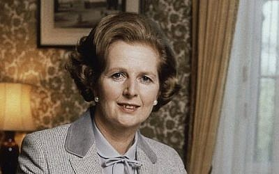 In this 1980 file photo, British Prime Minister Margaret Thatcher poses for a photograph in London. (Photo credit: AP Photo/Gerald Penny)