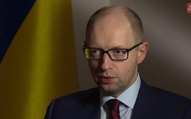 Ukrainian Prime Minister Arseniy Yatsenyuk. (screen capture: YouTube/BBC News)