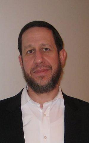 Canadian-born Rabbi Yitzchak Schochet, rabbi to the Orthodox Mill Hill Synagogue, a few miles from Hendon (Jenni Frazer/The Times of Israel)