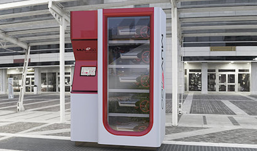 Prototype of a MUVe vending machine (Photo credit: Courtesy)