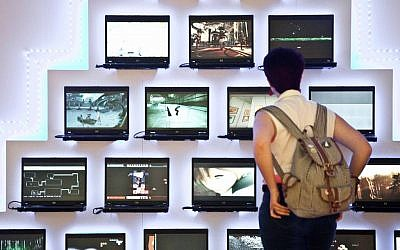 From 'Immersion,' an exhibit about gaming technology at Tel Aviv's Beit Ha'ir (photo credit: Neta Alonim)
