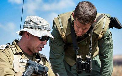 Lt. Col. Dotan Razili, a 25-year veteran of the IDF, during a Company and Battalion Commander Course (photo credit: IDF Spokesperson's Unit)