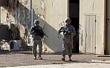 American soldiers at a base complex in Iraq, December 29, 2014 (AFP/ALI AL-SAADI)