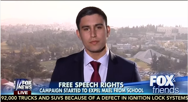 Daniel Mael interviewed on Fox News while in Jerusalem this week. (courtesy)