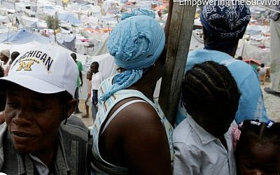 Haitian survivors of the earthquake that struck the island state five years ago.  (photo credit: ISRaid)