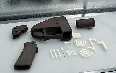The Liberator 3D-printed gun. (photo credit: CC BY-SA Justin Pickard, Flickr)