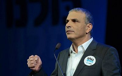 Kulanu party leader Moshe Kahlon announces his party's Knesset slate, Thursday, January 15, 2015  (photo credit: courtesy/Facebook)