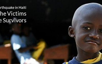 A Haitian survivor of the earthquake that struck the island state five years ago.  (photo credit: ISRaid)