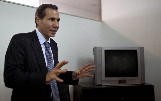 Alberto Nisman, the late prosecutor who investigated the 1994 bombing of the AMIA Jewish community center, talks to journalists in Buenos Aires, Argentina, May 29, 2013.  (AP Photo/Natacha Pisarenko)