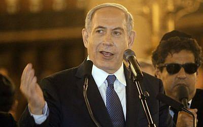 Israeli Prime Minister Benjamin Netanyahu, January 11, 2015 (photo credit: AP/Matthieu Alexandre)