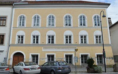 An exterior view of Adolf Hitler's birth house in Braunau am Inn, Austria, September 27, 2012 . (photo credit: AP/Kerstin Joensson, File)