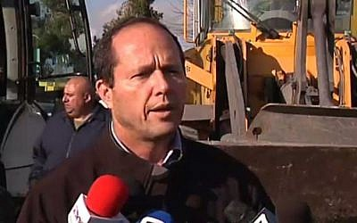 Jerusalem Mayor Nir Barkat, January 2015. (Channel 2 screen capture)