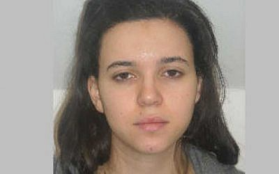 Hayat Boumddiene (photo credit: AP Photo/Prefecture de Police de Paris)