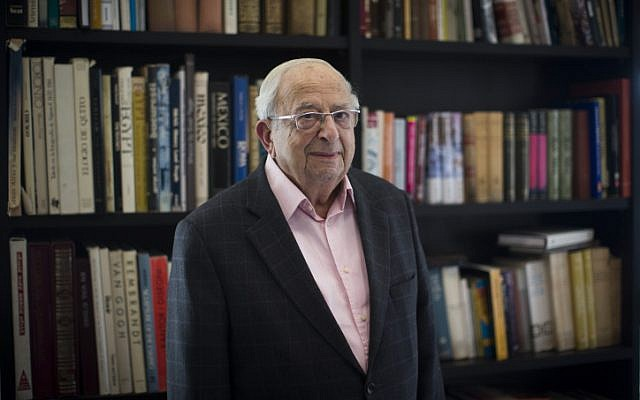 Former president Yitzhak Navon (Yonatan Sindel/Flash90)