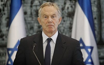 Former British prime minister Tony Blair in Jerusalem, July 15, 2014. (photo credit: Miriam Alster/Flash90)