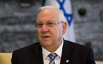 Israeli President Reuven Rivlin at the president's residence in Jerusalem, September 22, 2014 (photo credit: Noam Revkin Fenton/Flash90)