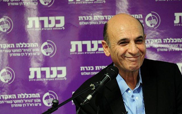 Chairman of Kadima MK Shaul Mofaz, December 22, 2014. (photo credit: FLASH90)