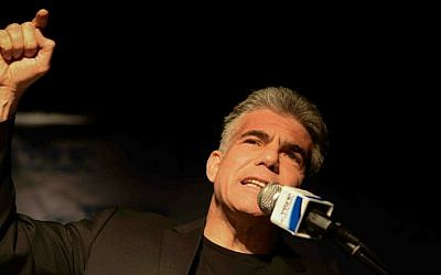 Yair Lapid, January 1, 2015. (Ben Kelmer/Flash90)