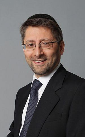 French Chief Rabbi Haim Korsia (Courtesy)