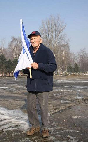 Stefan Weiss at Auschwitz in 2013. He traveled there with a delegation of Reuth staff members and residents. (photo credit: courtesy of Reuth)
