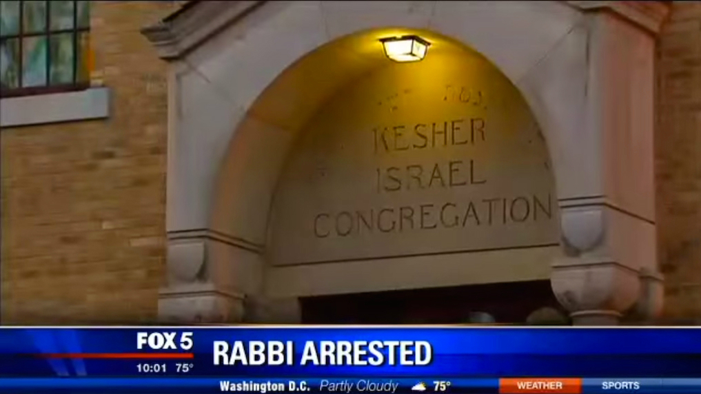 Fox News reports on the arrest for voyeurism of Barry Freundel, rabbi of Kesher Israel Congregation, October 2014. (YouTube screen capture)