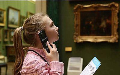 A child using Acoustiguide's Opus multimedia systems at the Wallace Collection, London. (photo credit: Courtesy)