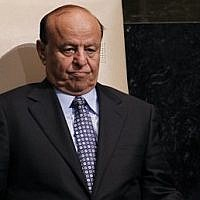 Abd Rabbo Mansour Hadi, President of Yemen, after addressing the 67th session of the United Nations General Assembly at UN headquarters, September 26, 2012. (AP Photo/Jason DeCrow, File)