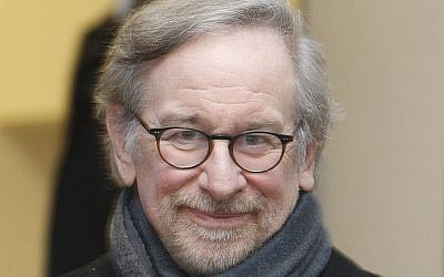 US film director Steven Spielberg arrives for a meeting with Holocaust survivors in Krakow, Poland last January. (photo credit: AP/Czarek Sokolowski)