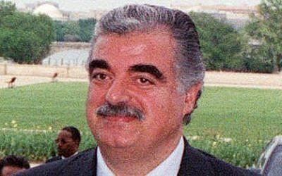Rafik Hariri (photo credit: Wikipedia)