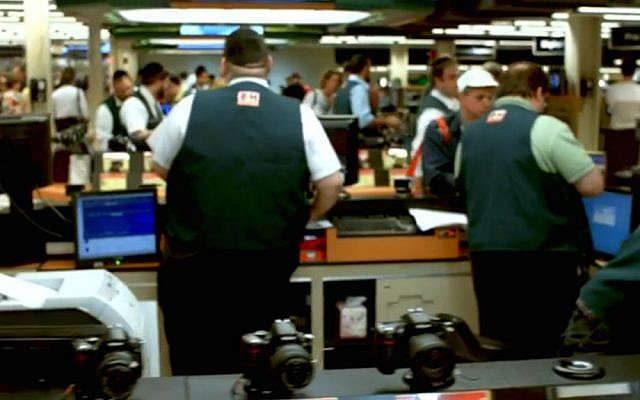 Workers at B&H Photo and Electronics (YouTube/screen capture)