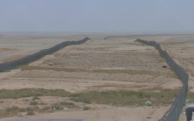 The Saudi-Iraqi border near the location of a recent attack by suspected Islamic State fighters. (screen capture: Daily Mail)