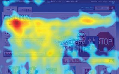 A ClickTale analytics heatmap (Photo credit: Courtesy)