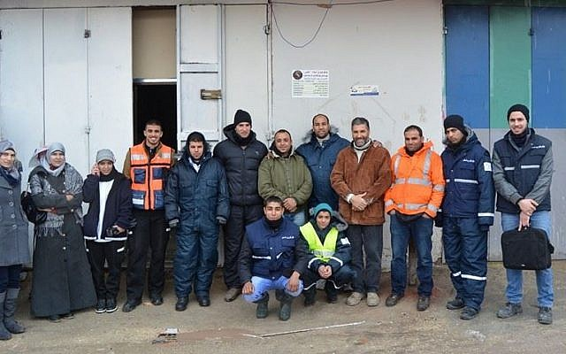 The staff of Peace Emergency Team in Shuafat photo credit: courtesy/Peace Emergency Team