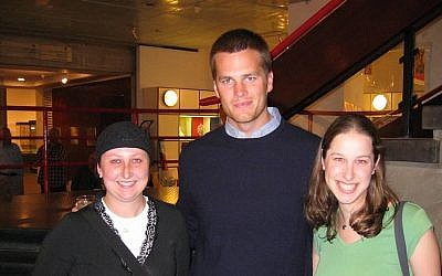 Patriots quarterback Tom Brady visits the Israel Museum, 2006 (photo credit: Courtesy)