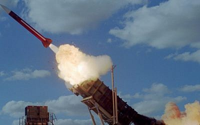 A Patriot missile. (Israel Air Force)